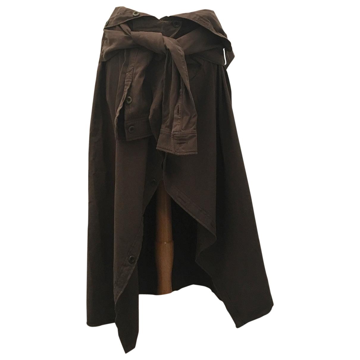 Faith Connexion \N Khaki Cotton skirt for Women 36 FR