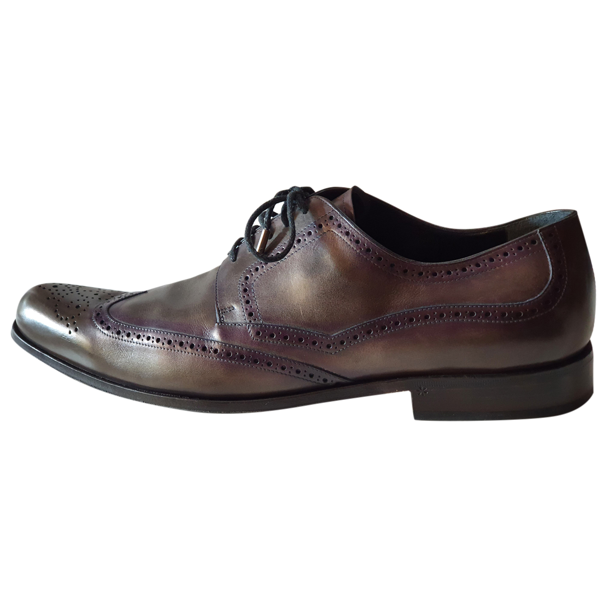 Dolce & Gabbana - Derbies   pour homme en cuir verni - gris