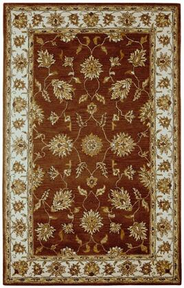VOLVO124400750810 Volare VO1244-8' x 10' Hand-Tufted 100% Wool Rug in Rust  Rectangle