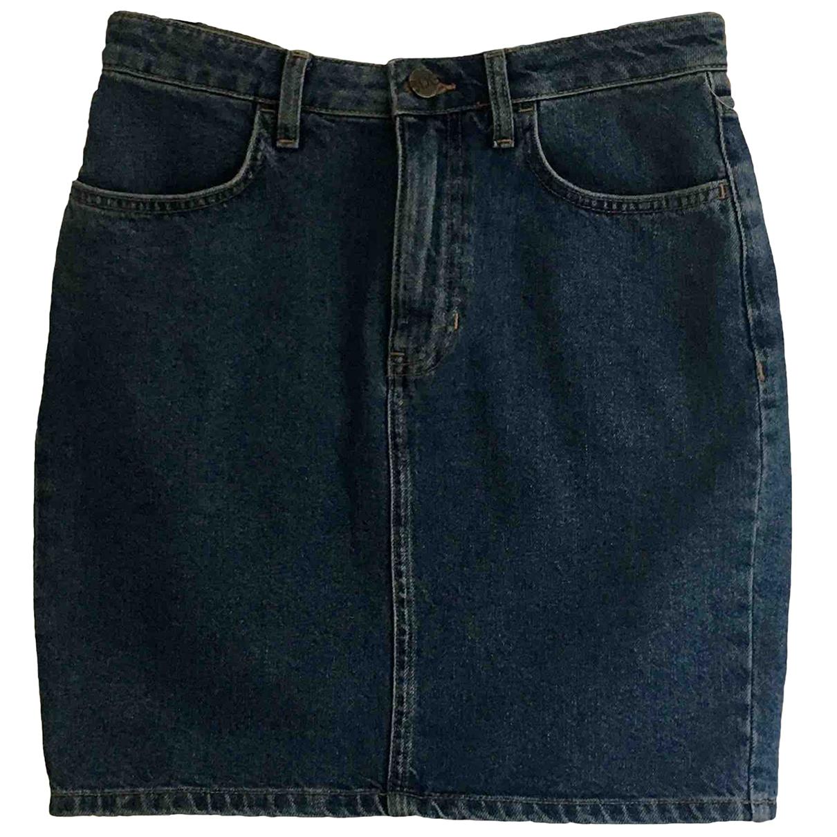 Urban Outfitters - Jupe   pour femme en denim - bleu