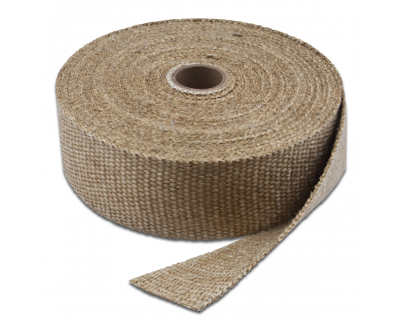 Exhaust Wrap 15 Foot x 1 Inch Natural Color Up To 2000 Degree F Short Roll Thermo Tec 11151