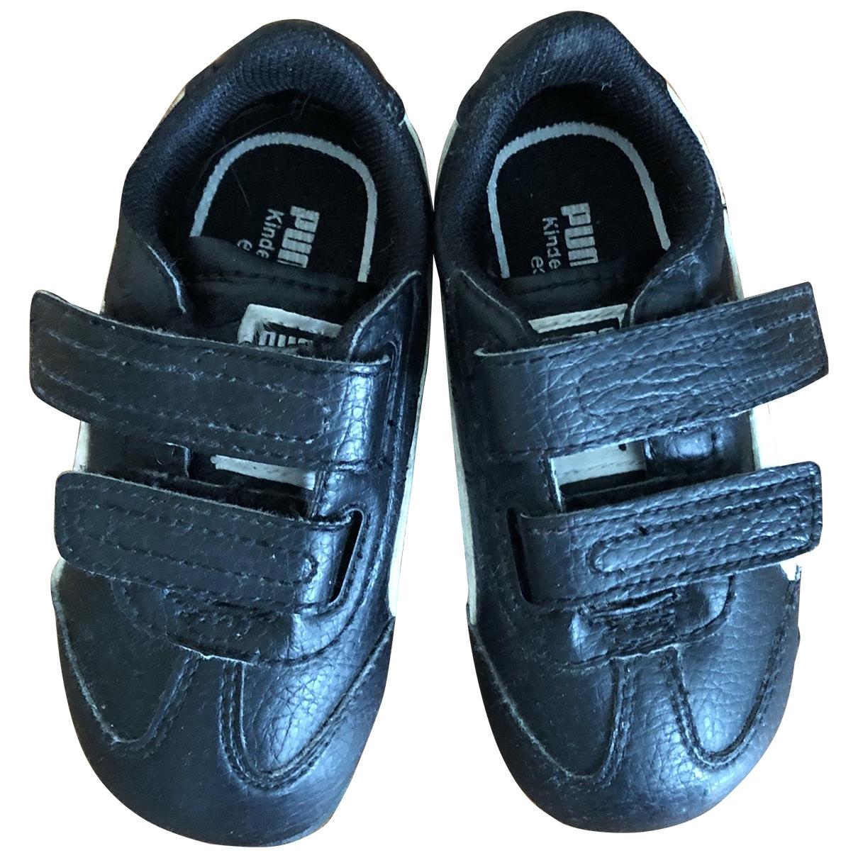 Puma - Baskets   pour enfant en cuir - noir
