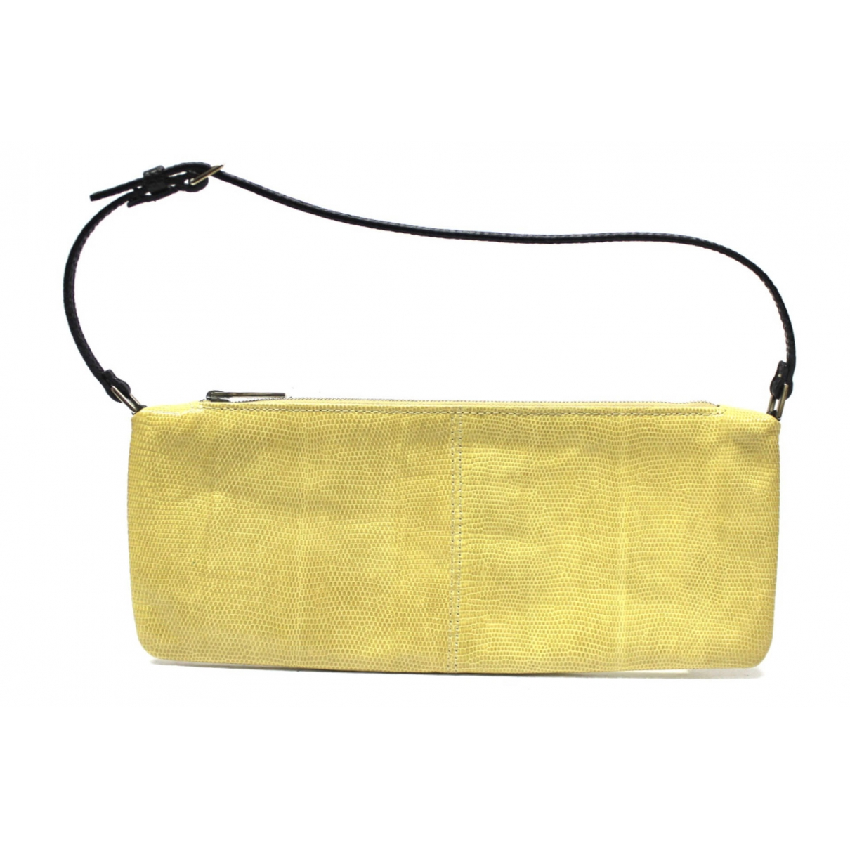 Valentino Garavani \N Yellow Lizard Clutch bag for Women \N