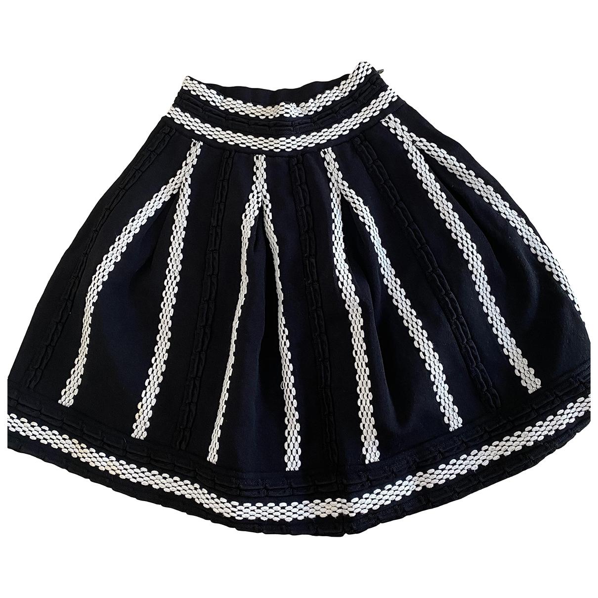Maje - Jupe   pour femme en laine - noir