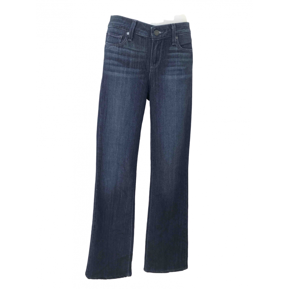 Paige Jeans \N Blue Cotton - elasthane Jeans for Women 26 US