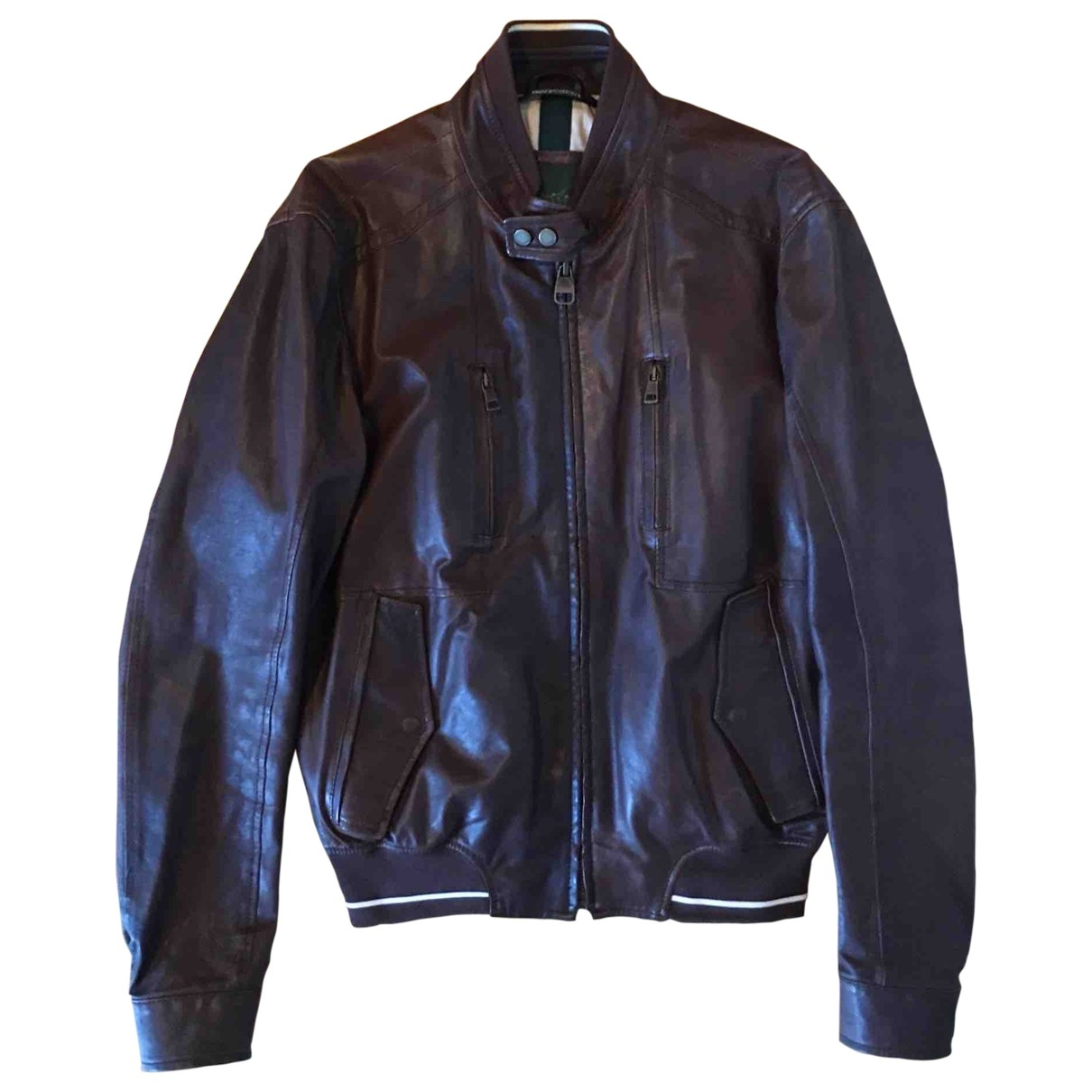 Henry Cotton \N Brown Leather jacket  for Men 50 IT