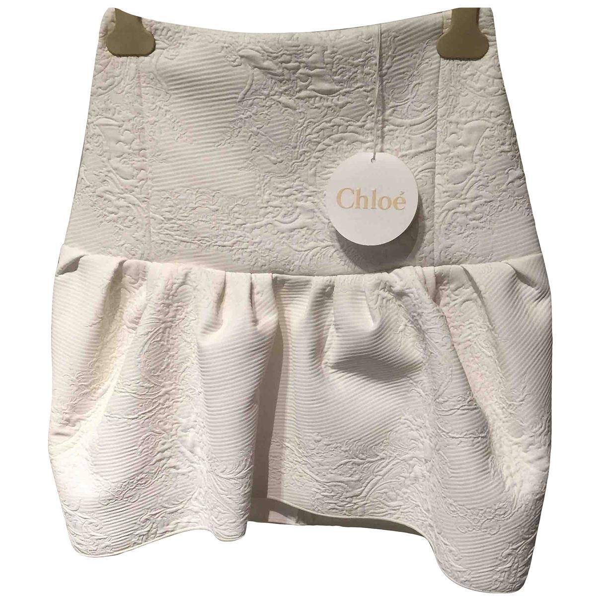 Chloé \N White dress for Women 36 FR