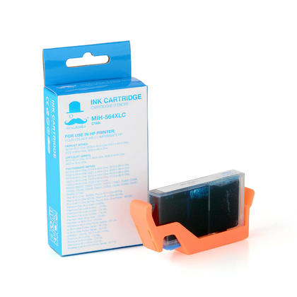 Compatible HP 564XL Cyan Ink Cartridge (High Yield Version of HP 564) - 1/Pack - Moustache