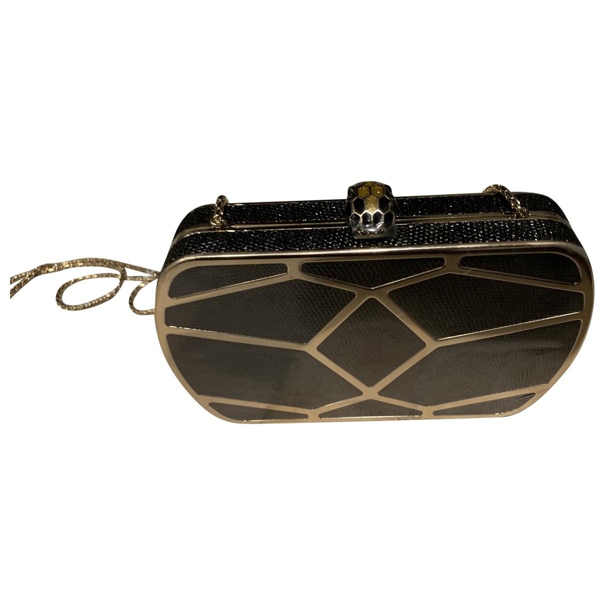 Bvlgari Serpenti Black Lizard Clutch bag for Women \N