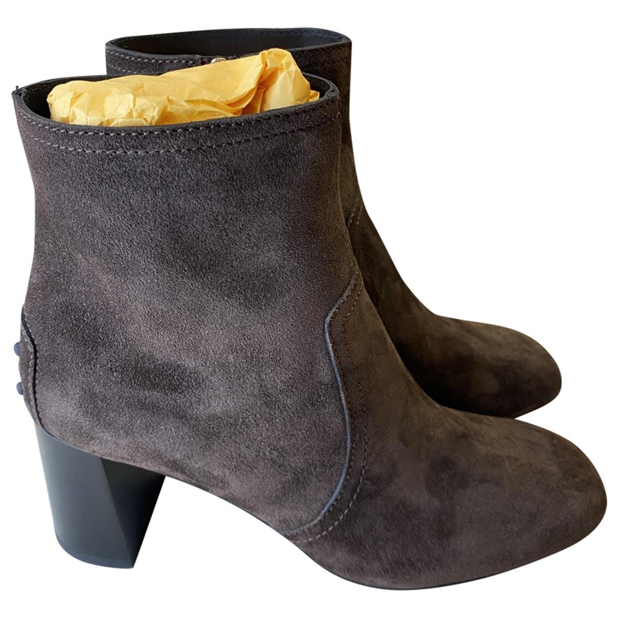 Tods - Boots   pour femme en suede - marron
