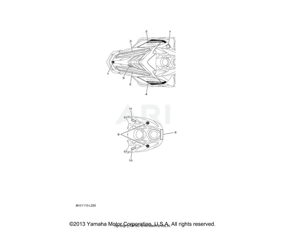 Yamaha OEM 8HF-77761-E0-00 LABEL, WARNING 1