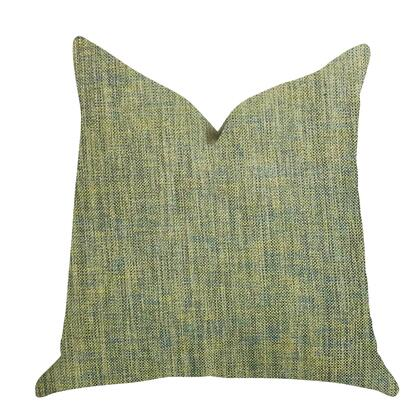Malachite Collection PBRA1401-2030-DP Double sided  20 x 30 Queen Plutus Mango Bliss Luxury Throw Pillow in Green and Yellow