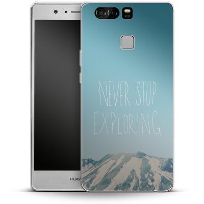 Huawei P9 Silikon Handyhuelle - Never Stop Exploring von Leah Flores