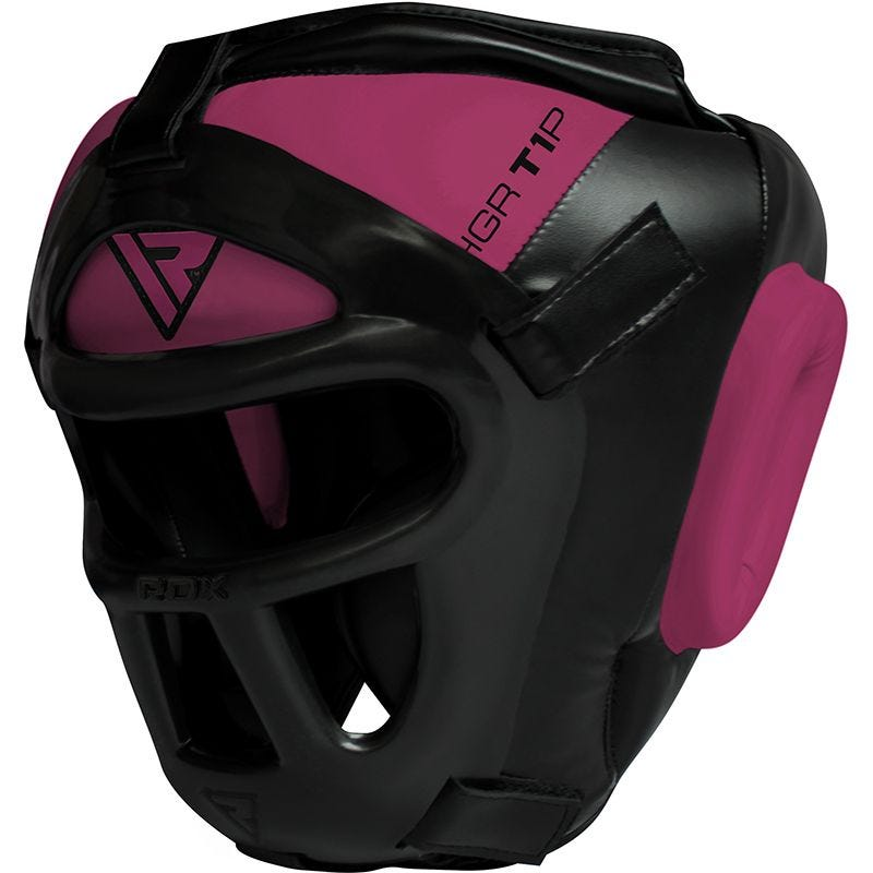 RDX T1 Women Full Face Protection Headgear Unbreakable Detachable Cage Guard Pink/Black