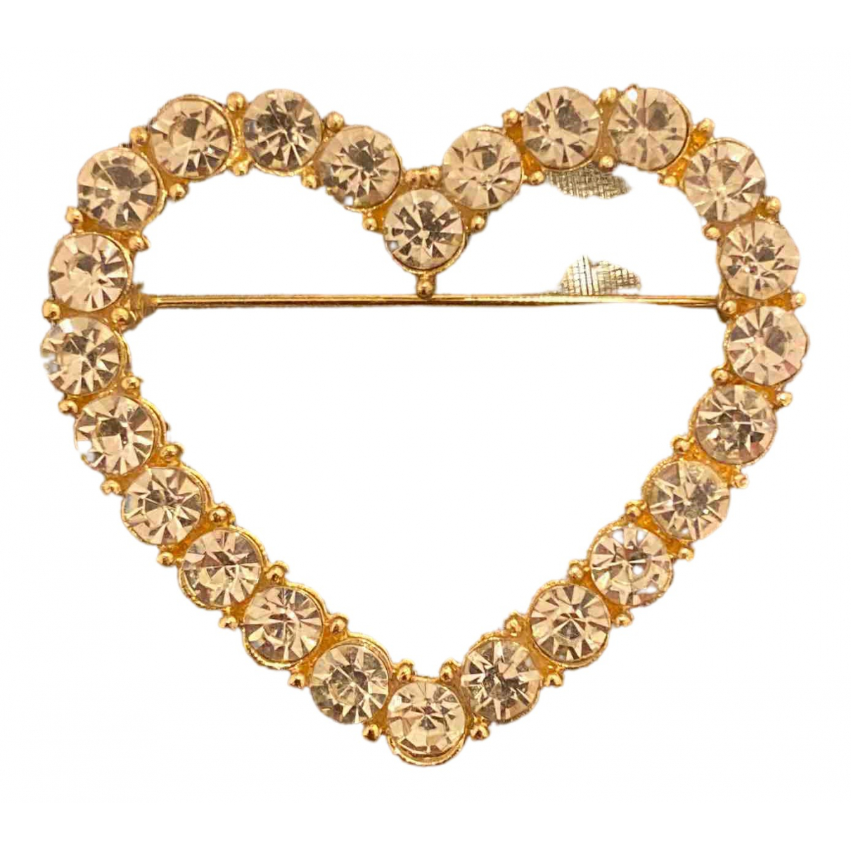 - Broche Motifs Coeurs pour femme en metal - dore