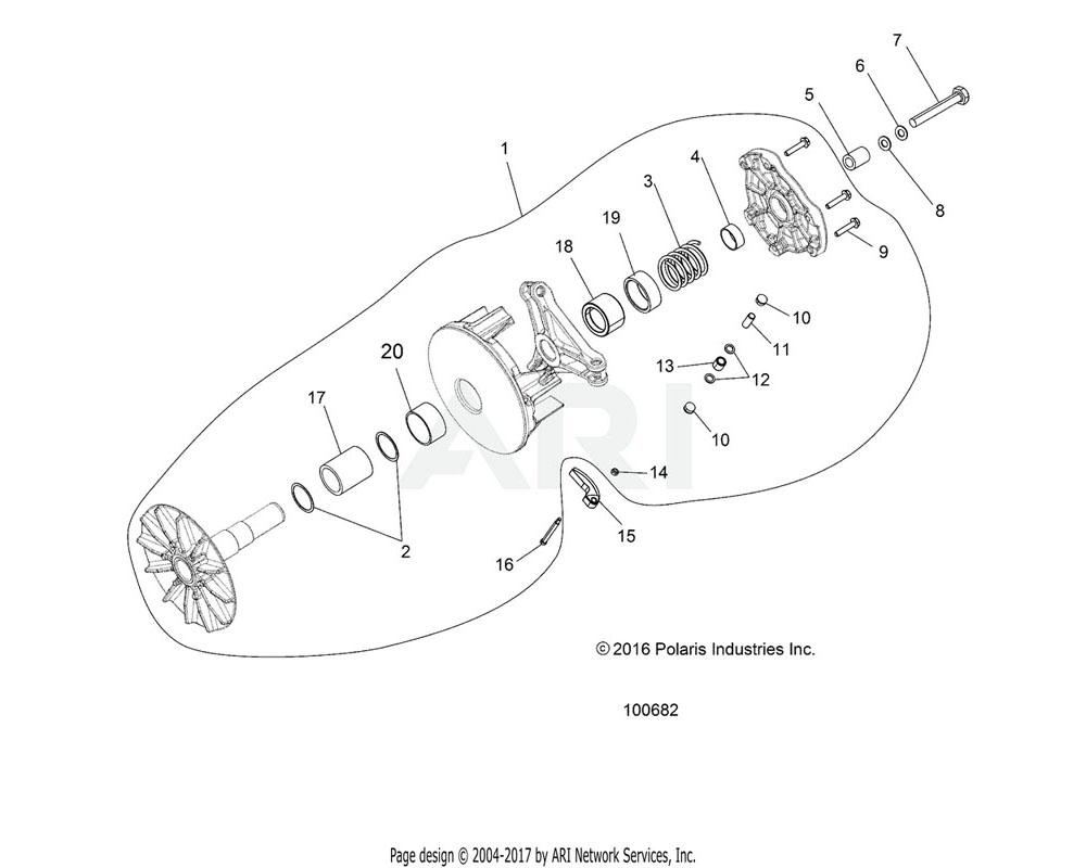 Polaris OEM 5438823 SPACER, CLUTCH, LIMITER