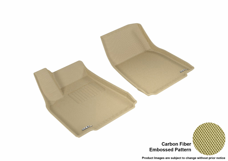 3D MAXpider 2016-2020 Tesla Model X Kagu 1st Row Floormat - Tan