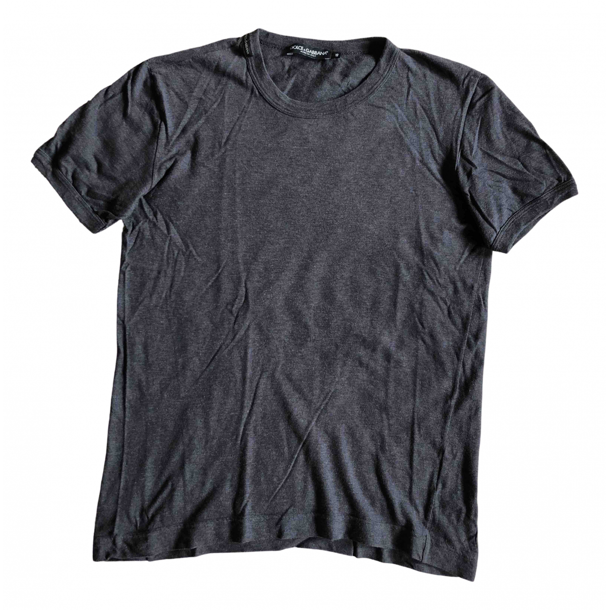 Dolce & Gabbana - Tee shirts   pour homme en coton - gris