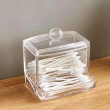 Clear Cotton Swab Storage Box