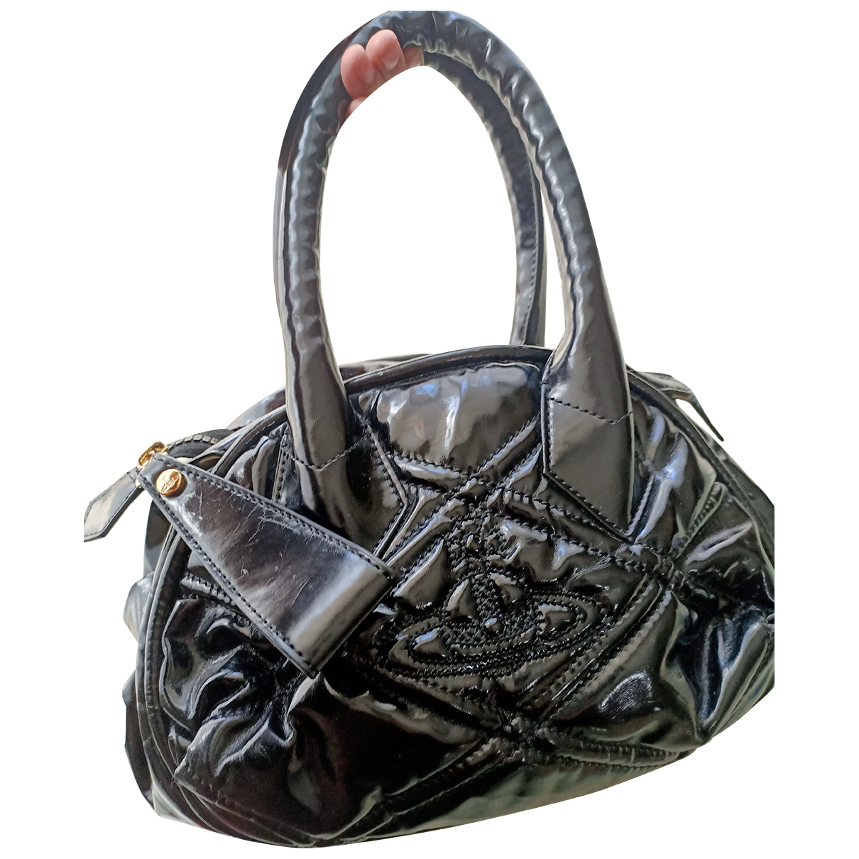 Vivienne Westwood N Black Patent leather handbag for Women N