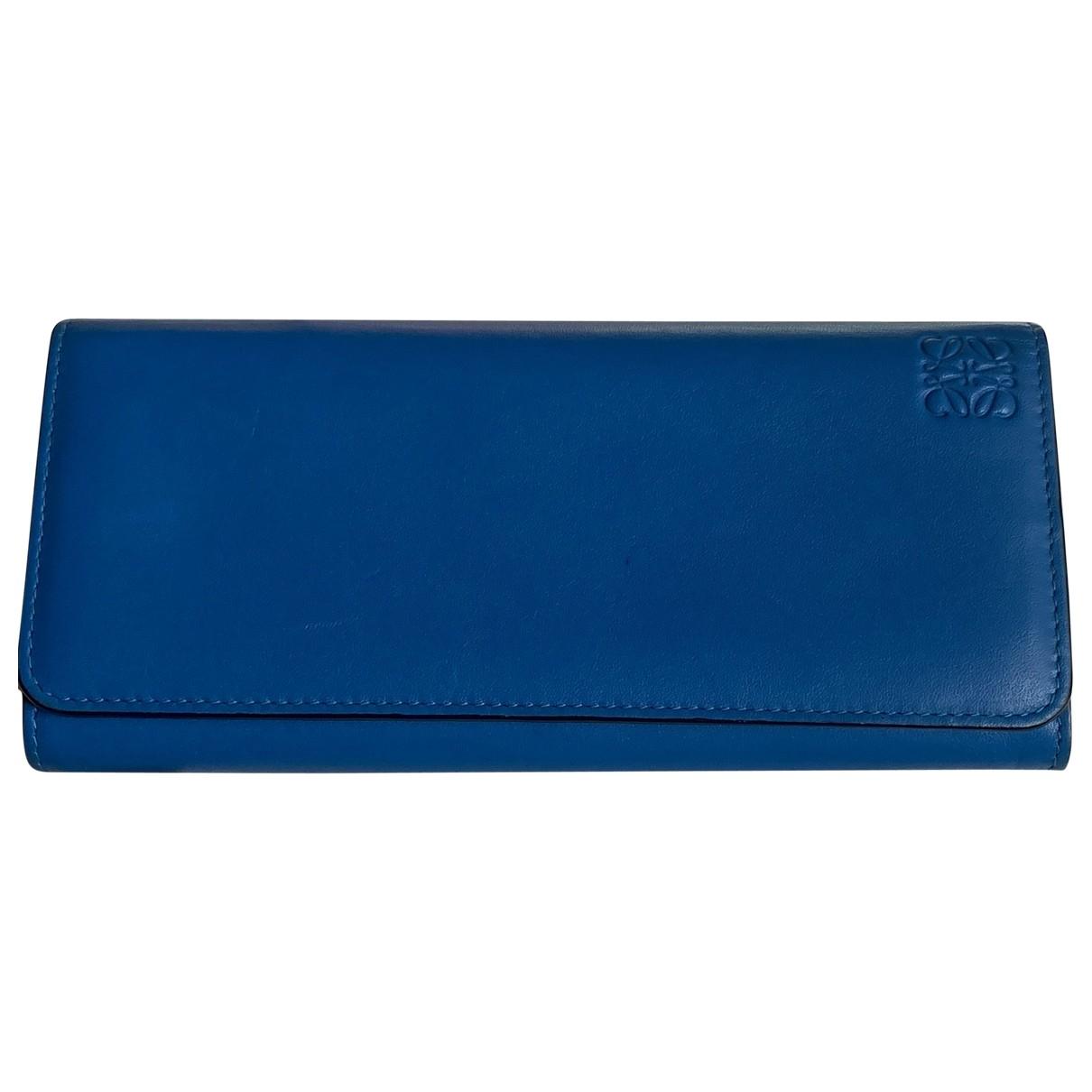 Loewe \N Portemonnaie in  Blau Leder