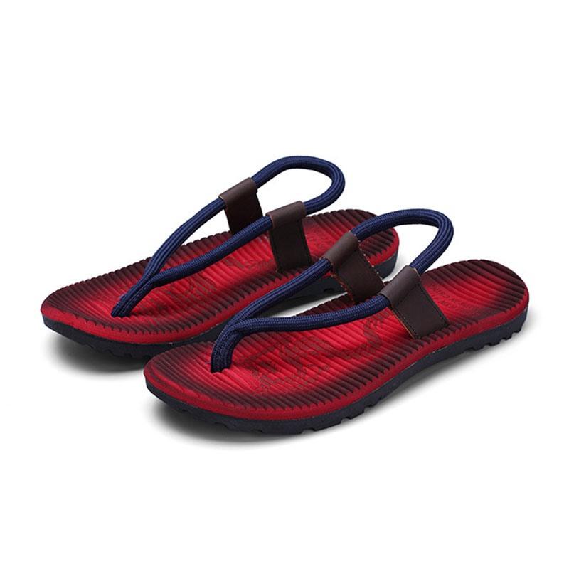 Ericdress Low-Cut Upper Color Block Elastic Thong Sandals