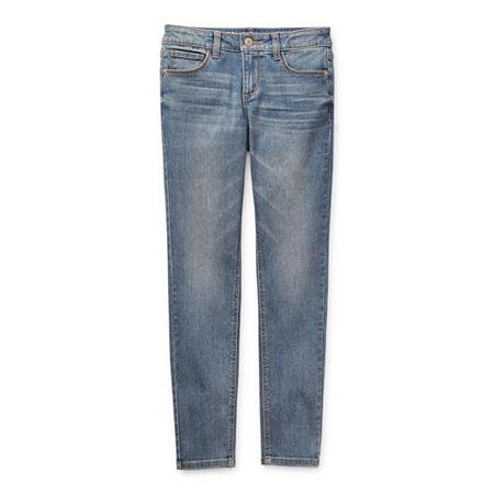 Arizona Girls Stretch Skinny Fit Jean, 4 Slim , Blue