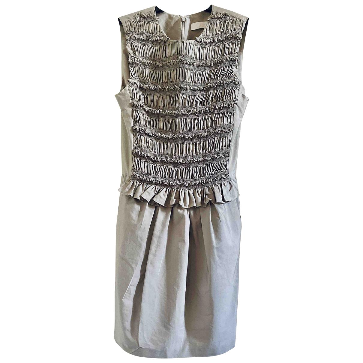 Chloé \N Grey Cotton dress for Women 36 FR