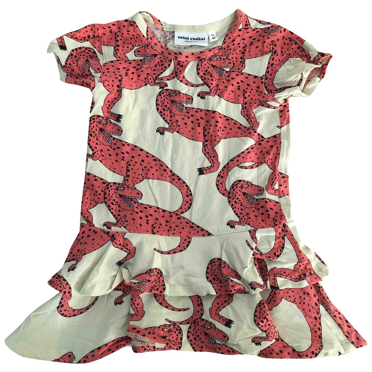 Mini Rodini - Robe    pour enfant en coton - rose