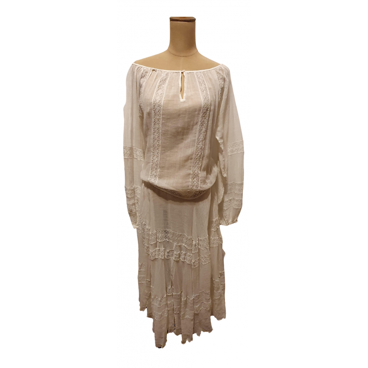 Mes Demoiselles ... \N Kleid in  Weiss Baumwolle