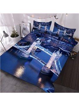 London Bridge Over The Blue Sea Printed 3-Piece Comforter Sets