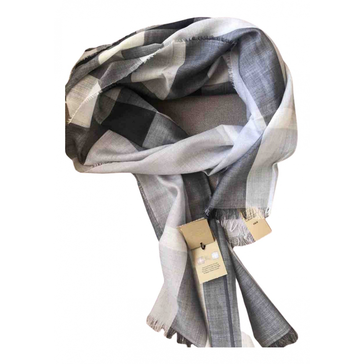 Burberry \N Grey Wool scarf & pocket squares for Men \N