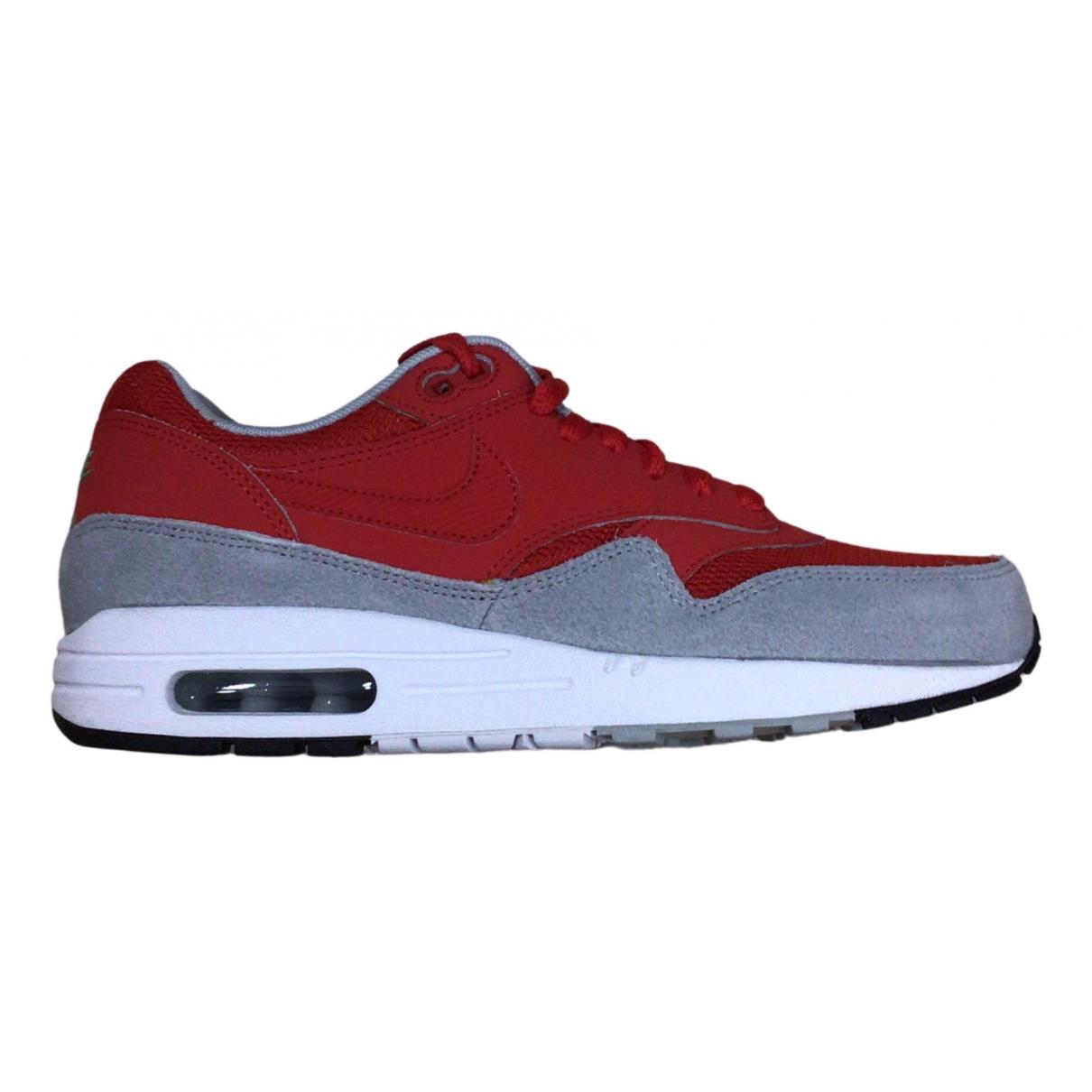 Nike - Baskets Air Max 1 pour homme en caoutchouc - rouge