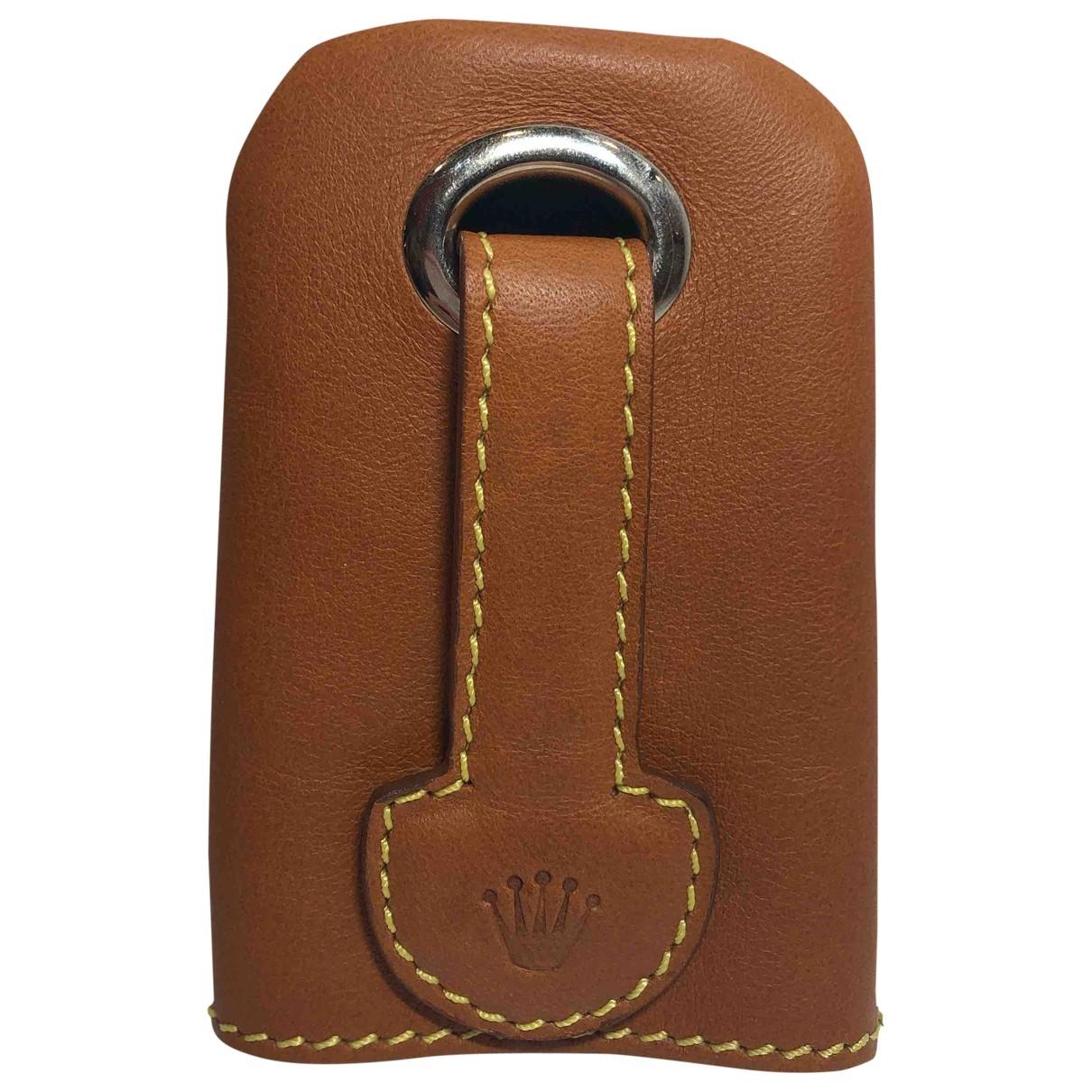 Rolex - Petite maroquinerie   pour femme en cuir - marron
