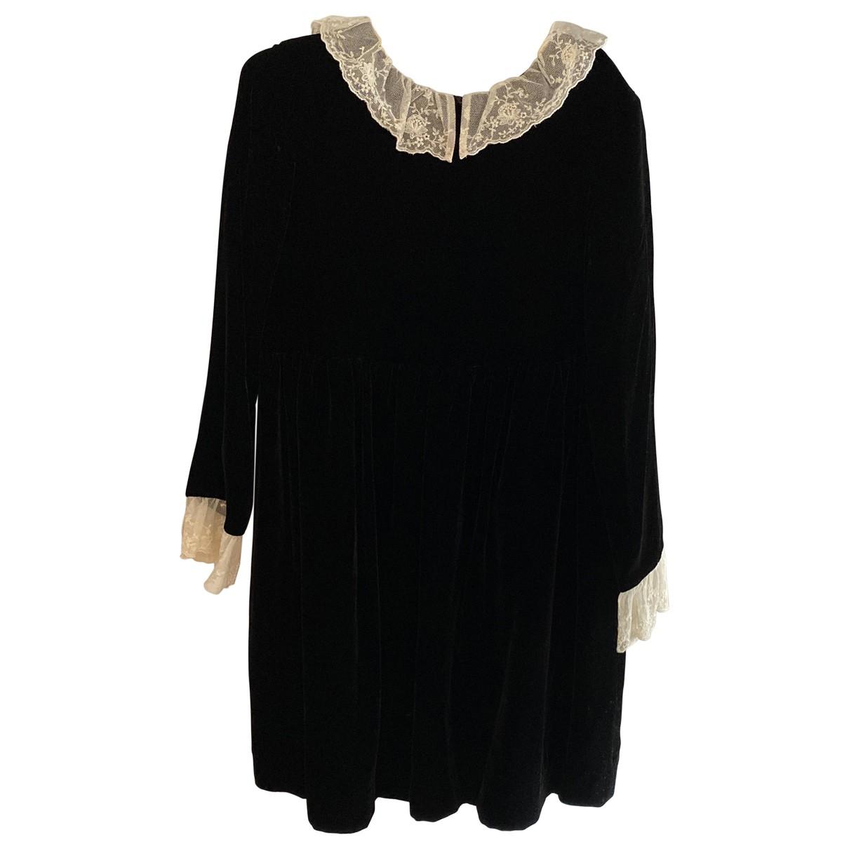 Bonpoint \N Kleid in  Schwarz Samt