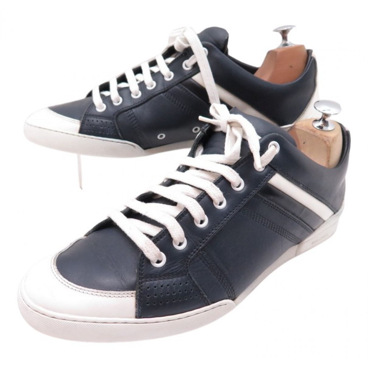 Dior N Navy Leather Trainers for Kids 28 FR