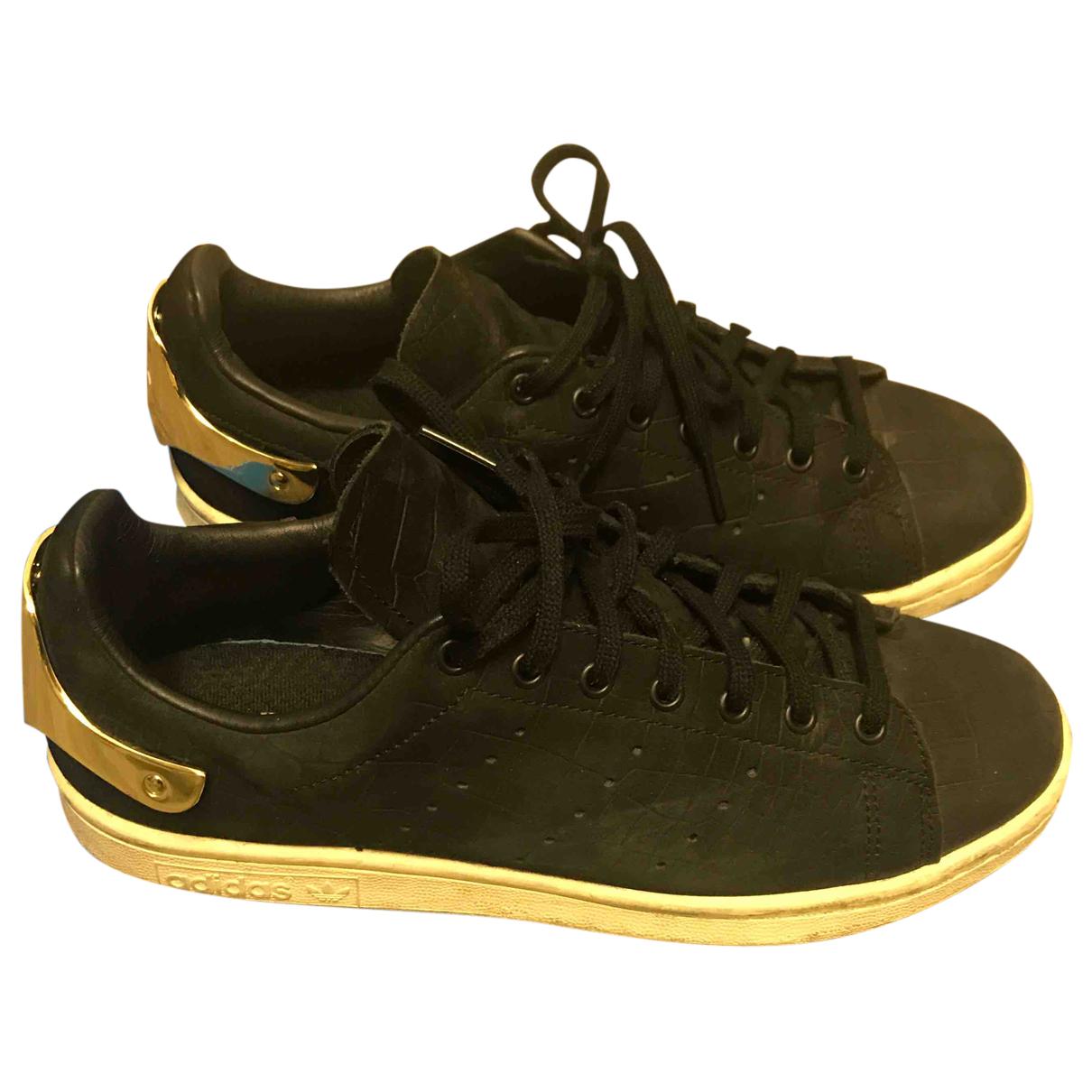 Adidas - Baskets Stan Smith pour femme en cuir exotique - noir