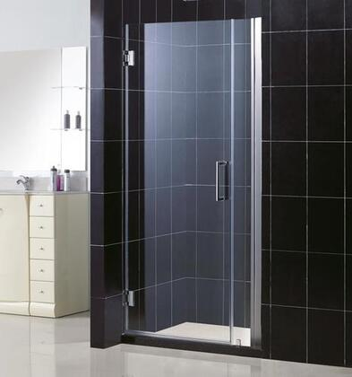 SHDR-20347210-01 Unidoor 34-35 In. W X 72 In. H Frameless Hinged Shower Door  Clear Glass  In