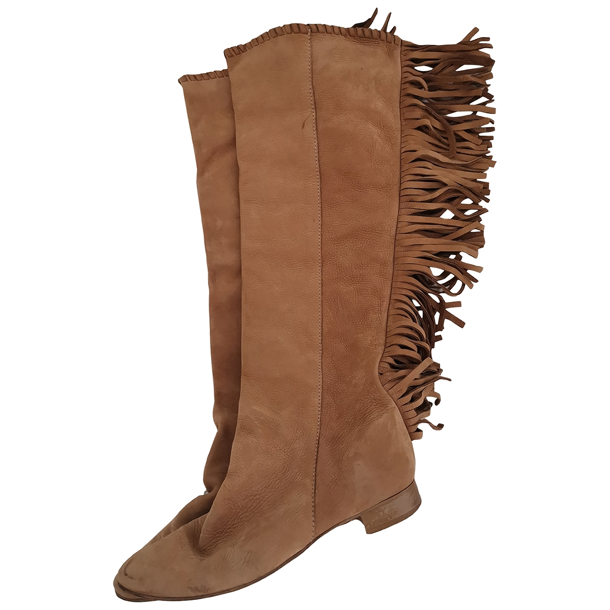 Zara \N Beige Suede Boots for Women 40 EU