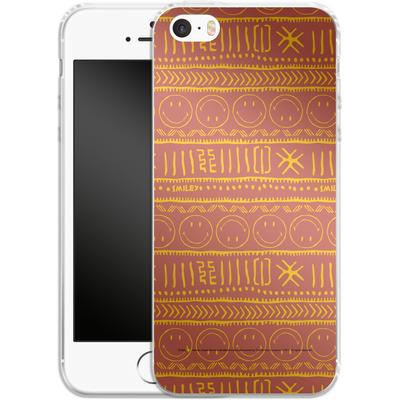 Apple iPhone 5 Silikon Handyhuelle - Tribal Orange von Smiley®