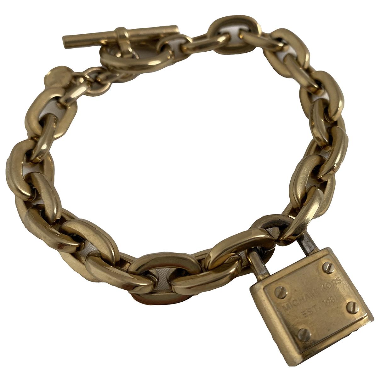 Michael Kors - Bracelet   pour femme en acier - dore