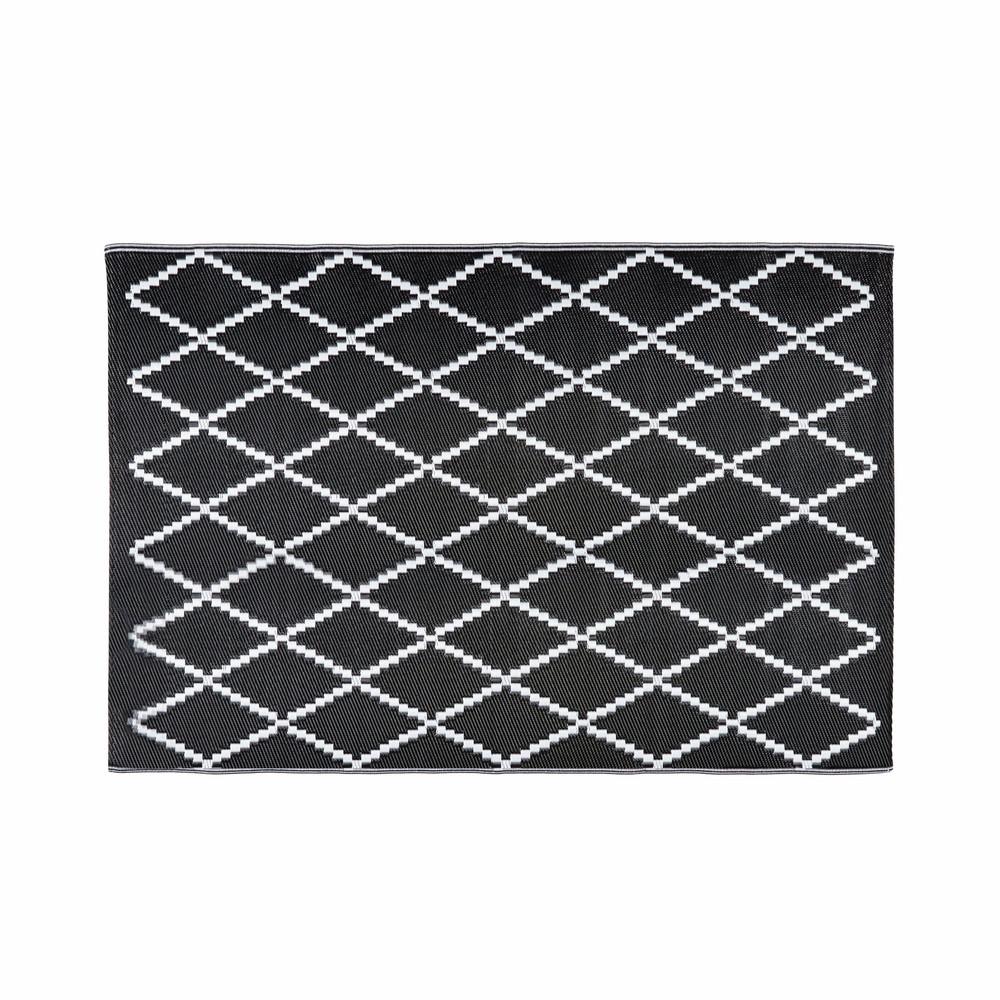 Outdoor-Teppich mit schwarzen und weissen Motiven 180x270 LOSIA