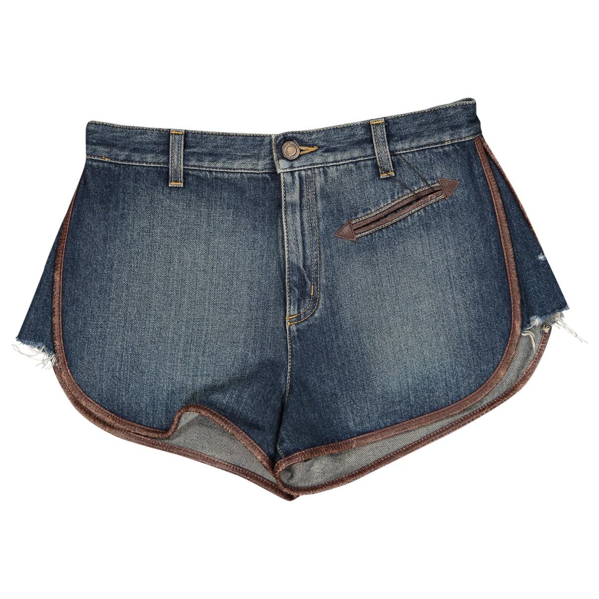 Saint Laurent \N Shorts in  Blau Baumwolle