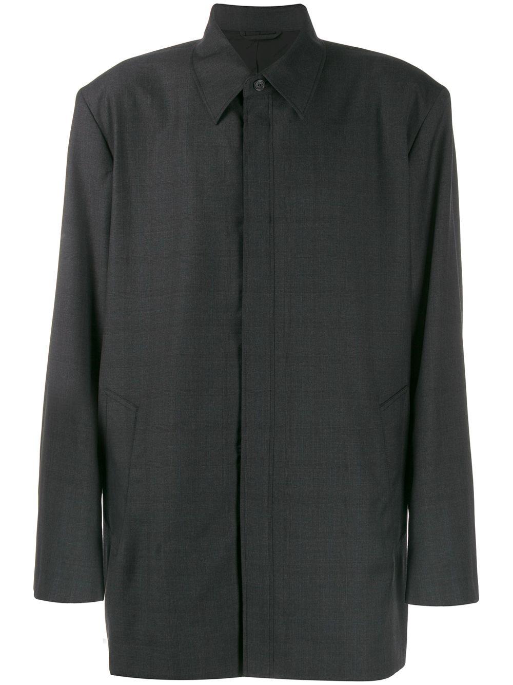 Wool Blend Baggy Fit Oversize Shirt