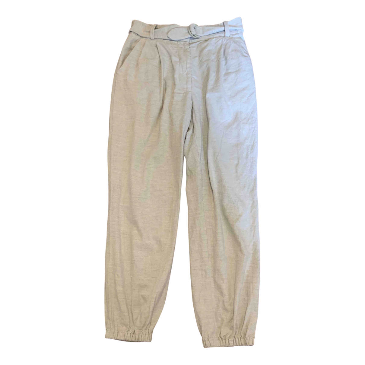 3.1 Phillip Lim \N Beige Cotton Trousers for Women 2 0-5
