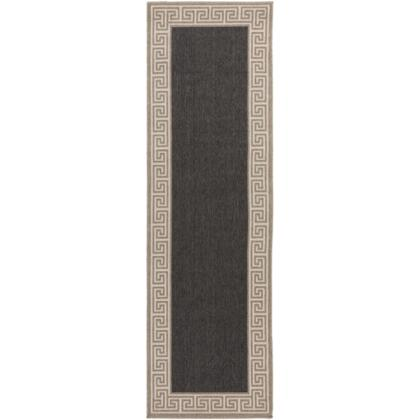 Alfresco ALF9626-2379 23 x 79 Rectangular 100% Polypropylene Rug with No Shedding  Easy Care  Low Pile  Loop Texture  and Machine Made in Egypt