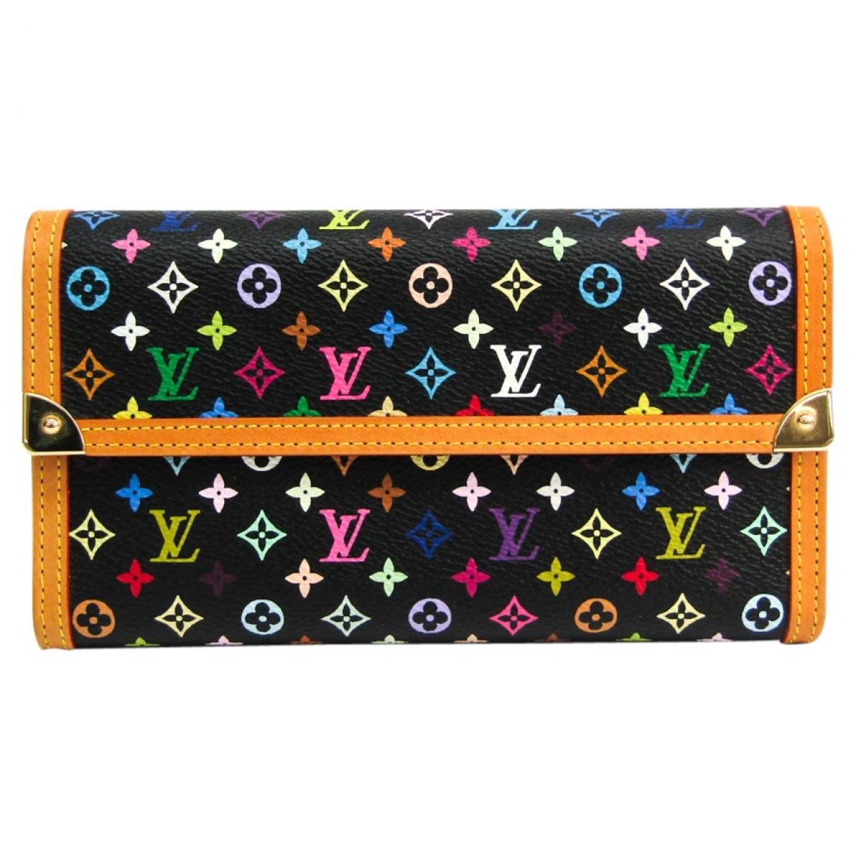 Louis Vuitton \N Black Cloth wallet for Women \N