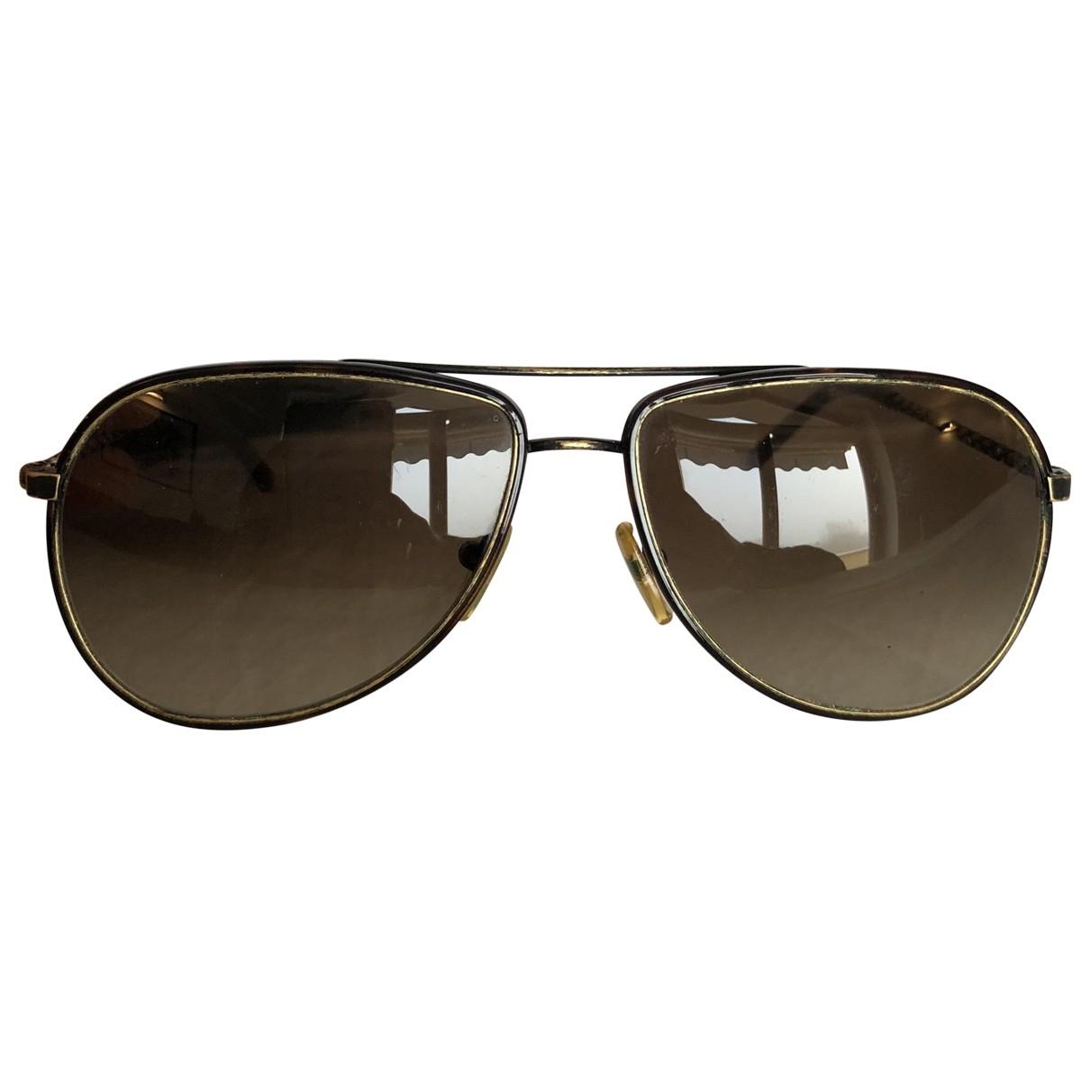 Bottega Veneta \N Sonnenbrillen in  Braun Metall