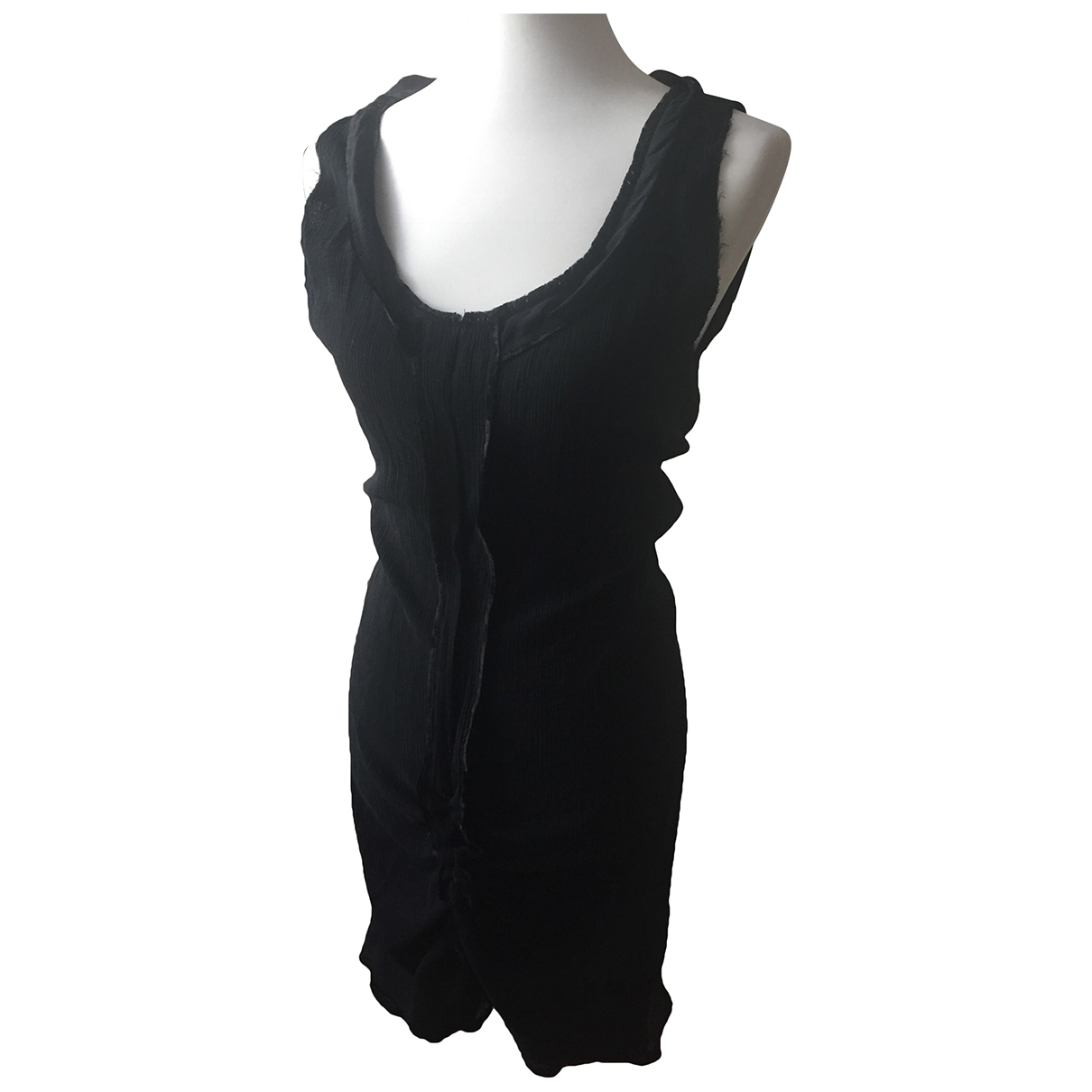 Bottega Veneta \N Kleid in  Schwarz Seide