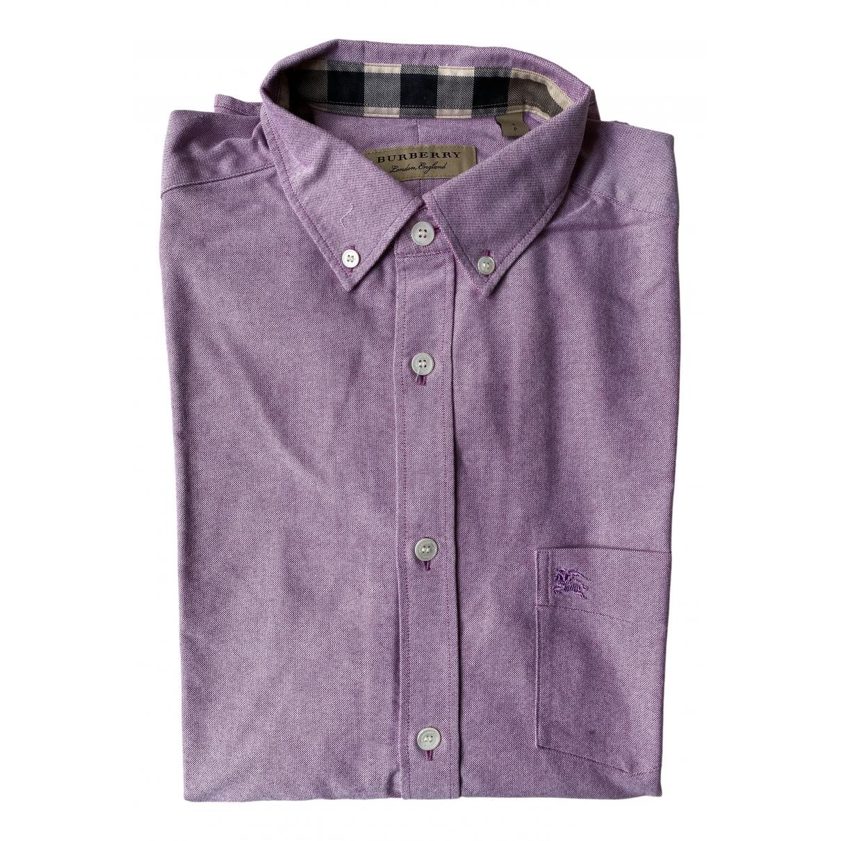 Burberry - Chemises   pour homme en coton - rose
